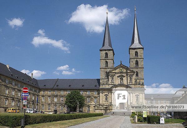 Klosterkirche St. Michael  Bamberg  Oberfranken  Bayern  Deutschland  Europa