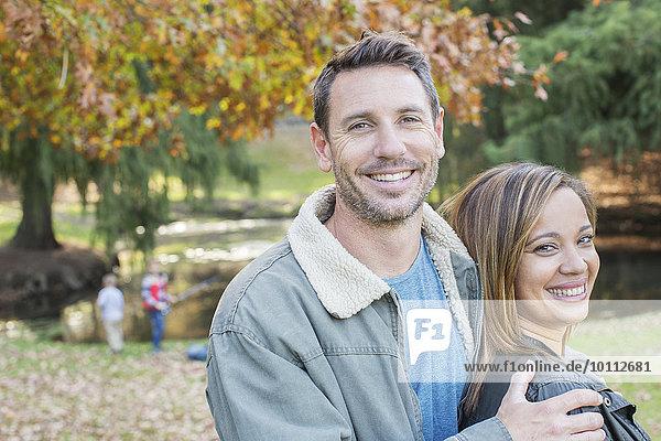 Portrait lächeln Herbst