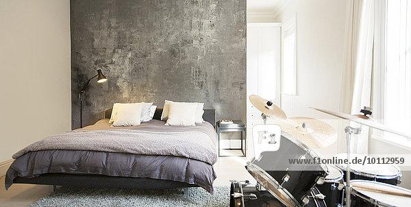 Schlafzimmer Trommel modern