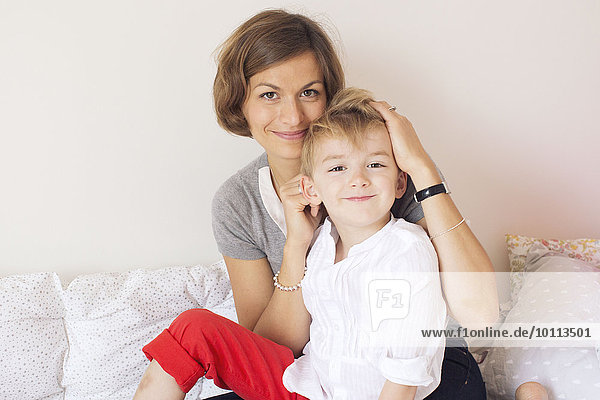 Mother and son  portrait