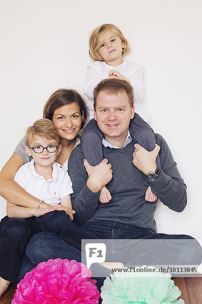 Family with two children  portrait