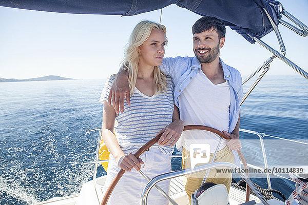 Zusammenhalt steuern jung Adriatisches Meer Adria