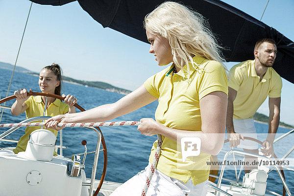 Zusammenhalt Freundschaft Adriatisches Meer Adria