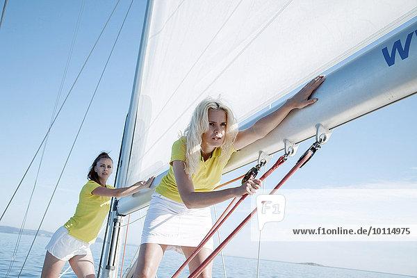 Zusammenhalt Frau berichtigen 2 Adriatisches Meer Adria Takelage