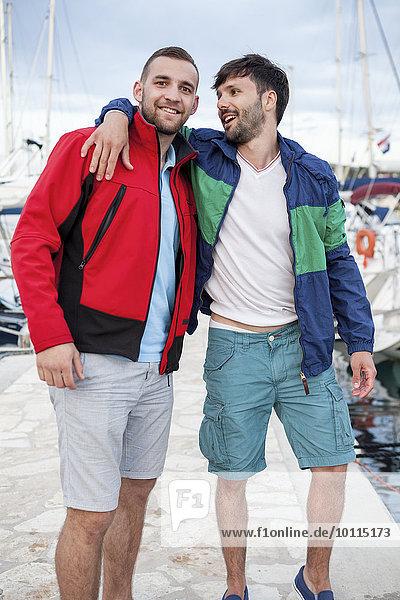 Fischereihafen Fischerhafen Portrait Freundschaft Kai 2 Adriatisches Meer Adria