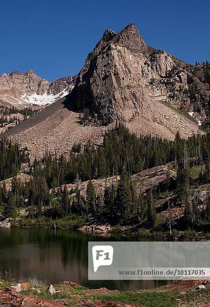 Lake Blanche und Sundial Peak  Big Cottonwood Canyon  Salt Lake City  Utah