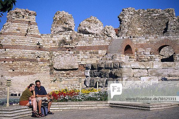 Kirche Christos Pantokrator  Nessebar  Schwarzes Meer  Bulgarien  Südosteuropa  Europa