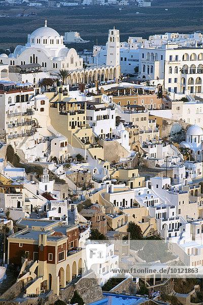Thira  Santorin  Kykladen  Griechenland  Europa