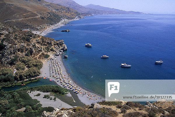 Küste  Preveli Beach  Kreta  Griechenland  Europa