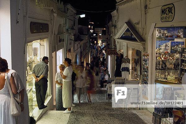 Shopping in Thira  Santorini  Cyclades  Greece  Europe