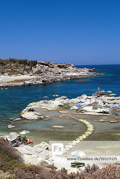 Nikolas Beach in Rhodos  Dodekanes  Griechenland  Europa