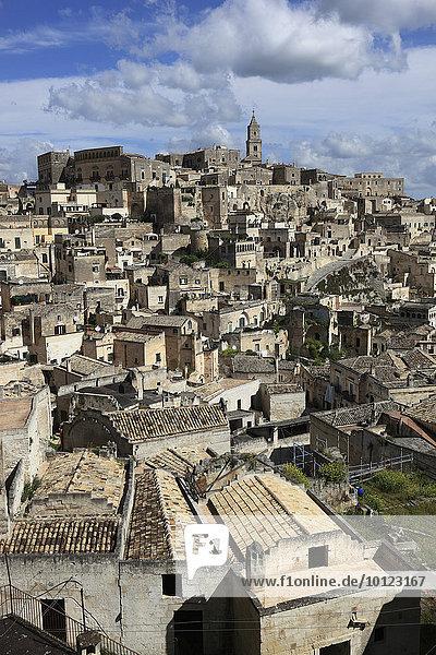 Altstadt  Höhlensiedlungen Sassi di Matera  Unesco Weltkulturerbe  Matera  Basilikata  Italien  Europa