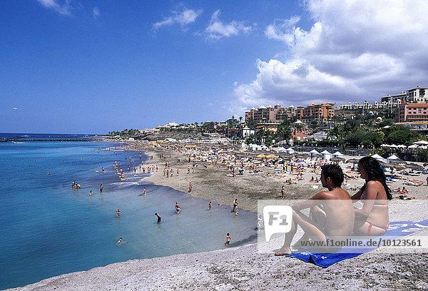 Playa Adeje  Teneriffa  Kanarische Inseln  Spanien  Europa