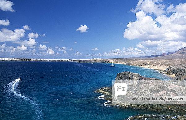 Playa Papagayo  Lanzarote  Kanarische Inseln  Spanien  Europa