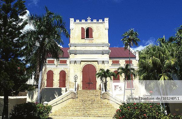 Frederik Lutheran Kirche in Charlotte Amalie  Insel St. Thomas  Amerikanische Jungferninseln  Karibik  Nordamerika