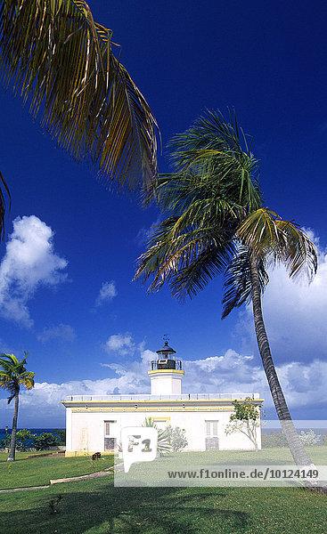 Leuchtturm Faro de Puntas Mulas  Insel Vieques  Puerto Rico  Karibik  Nordamerika