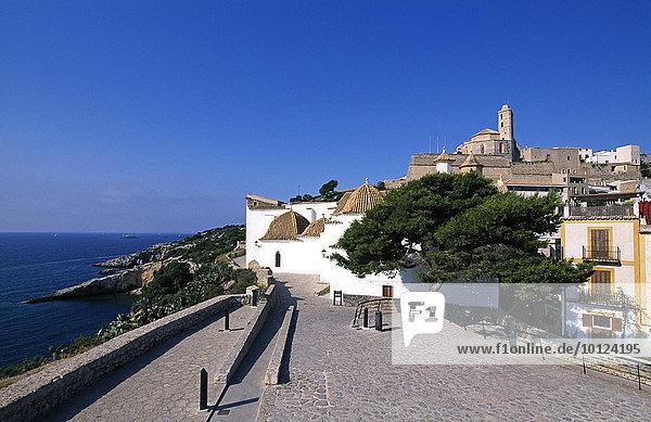 Dalt Vila  Altstadt  Ibiza-Stadt  Ibiza  Balearen  Spanien  Europa