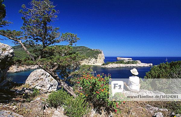 Küste bei Sant Miguel  Ibiza  Balearen  Spanien  Europa