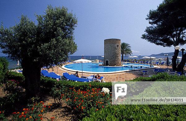 Hotelanlage in Figueretes  Ibiza  Balearen  Spanien  Europa