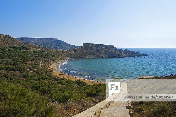 Strand an der Tuffieha Bay  Malta  Europa