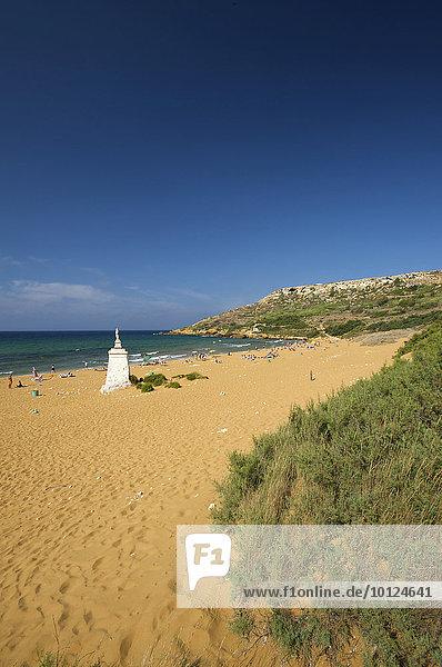 Ramla Bay auf der Insel Gozo  Malta  Europa
