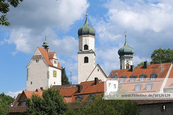 Türme in der Altstadt von Isny  Allgäu  Bayern  Deutschland  Europa