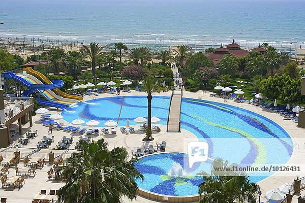 Terrace Beach Resort on the beach of Side  Turkish Riviera  Turkey  Western Asia  Asia