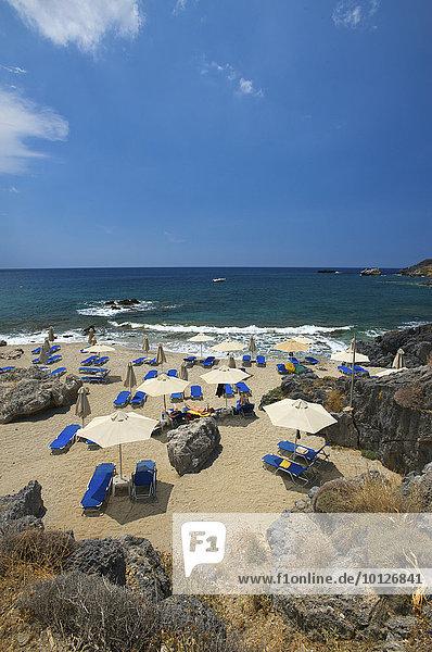 Damnoni Strand bei Plakias  Kreta  Griechenland  Europa
