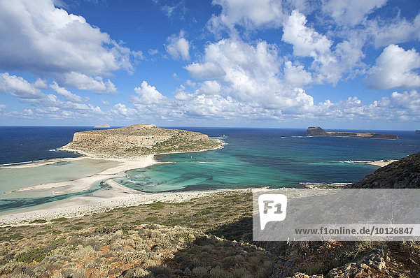 Balos Strand  Imeri Gramvousa Halbinsel  Kreta  Griechenland  Europa