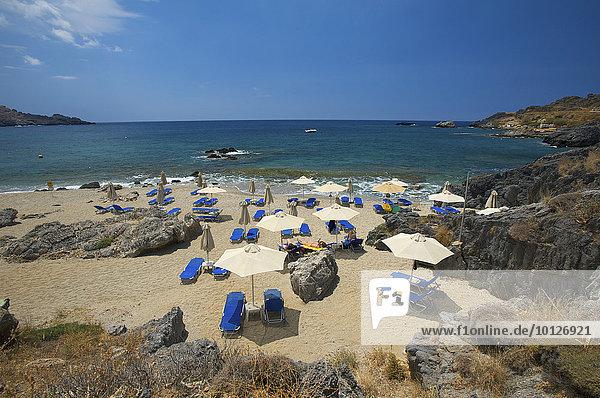 Strand von Damnoni bei Plakias  Kreta  Griechenland  Europa