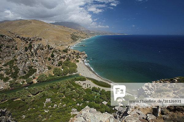 Strand von Preveli  Südküste  Kreta  Griechenland  Europa