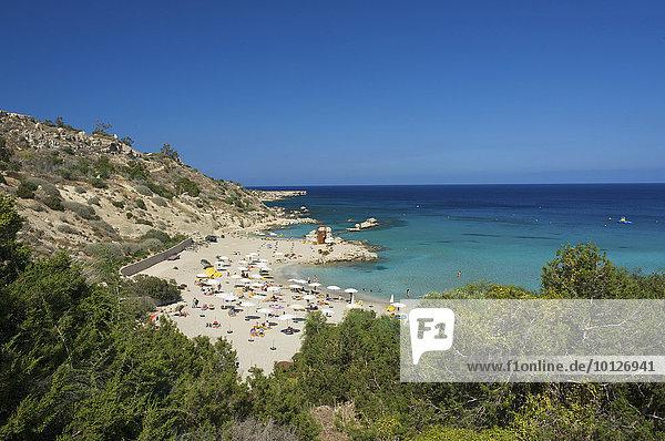 Strand Konnos Beach bei Protaras  Agia Napa  Südzypern  Zypern  Europa