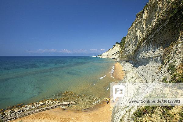 Londas Beach bei Peroulades  Korfu  Ionische Inseln  Griechenland  Europa