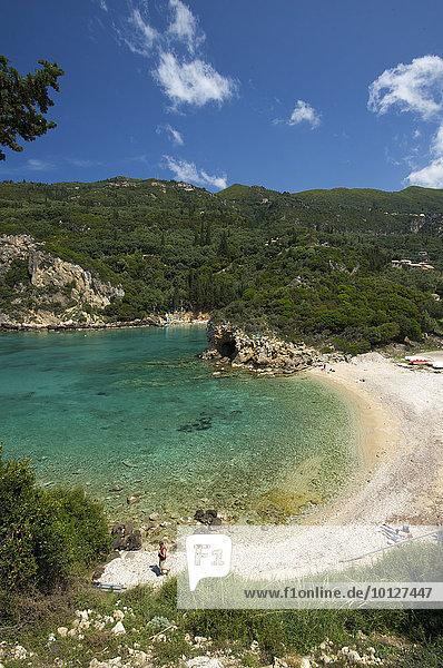 Küste von Paleokastritsa  Korfu  Ionische Inseln  Griechenland  Europa