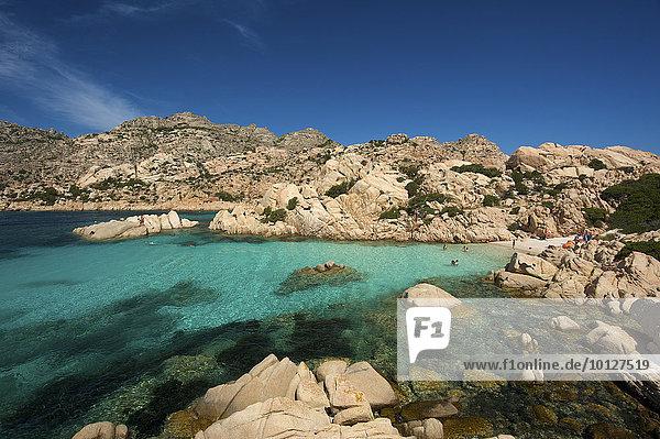 Bucht Cala Coticcio  Isola Caprera  La Maddalena Archipel  Sardinien  Italien  Europa