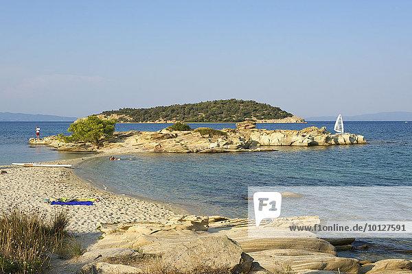 Lagonisi Strand  Sithonia  Chalkidiki  Griechenland  Europa