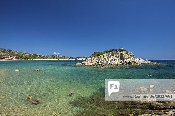 Kalamitsi Strand  Sithonia  Chalkidiki  Griechenland  Europa