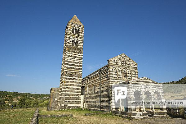 La Basilica della Santissima Trinita di Saccargia  Sardinien  Italien  Europa