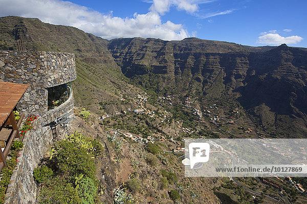Aussichtspunkt Mirador de Cesar Manrique  Valle Gran Rey  La Gomera  Kanaren  Spanien  Europa