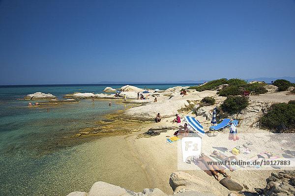 Strand  Portokali Beach  Kavourotypes  Sithonia  Chalkidiki  Griechenland  Europa