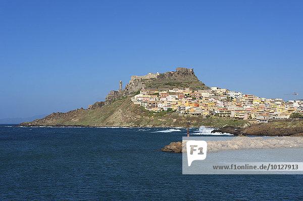 Stadtansicht  Castelsardo  Sardinien  Italien  Europa
