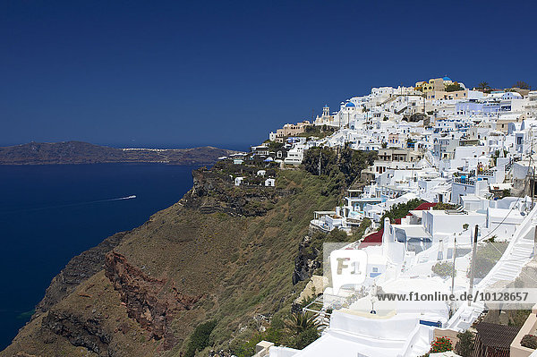 View of Imerovigli  Santorini  Cyclades  Greece  Europe