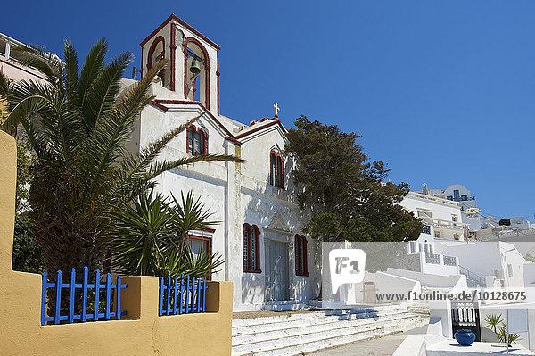 Kirche  Thira  Santorin  Kykladen  Griechenland  Europa