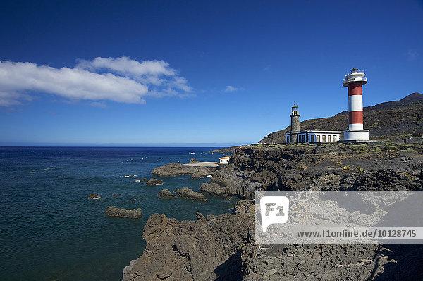 Leuchtturm  Faro de Fuencaliente  La Palma  Kanarische Inseln  Spanien  Europa