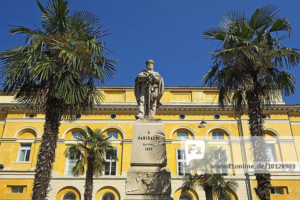 Statue von Giuseppe Garibaldi  Ravenna  Adria  Emilia-Romagna  Italien  Europa