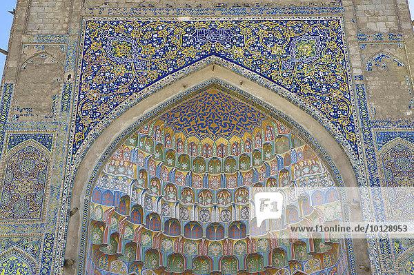 Verzierte Nische  Abdulasis Khan  Abdul Aziz Khan Medrese  1652  Buchara  Usbekistan  Asien