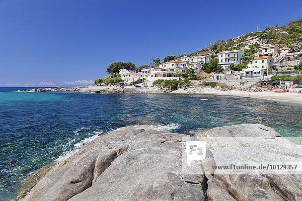 Strand von Seccheto  Elba  Provinz Livorno  Toskana  Italien  Europa
