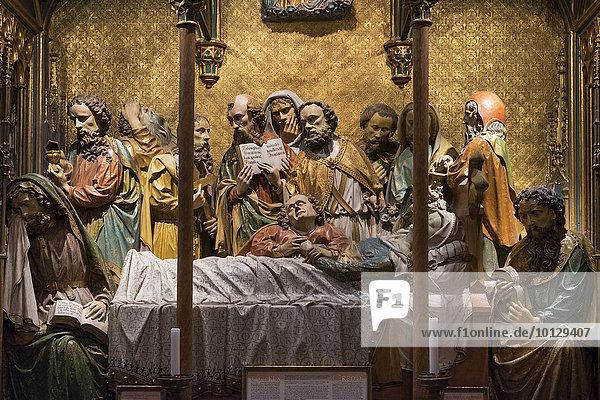 Maria-Schlaf-Altar  Kaiserdom St. Bartholomäus  Frankfurt am Main  Hessen  Deutschland  Europa