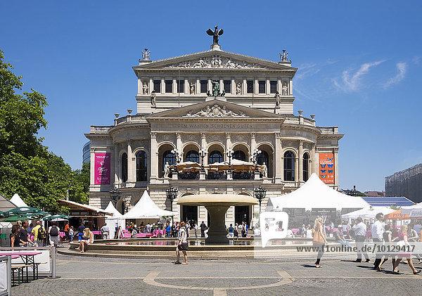 Alte Oper  Opernplatzfest  Frankfurt am Main  Hessen  Deutschland  Europa