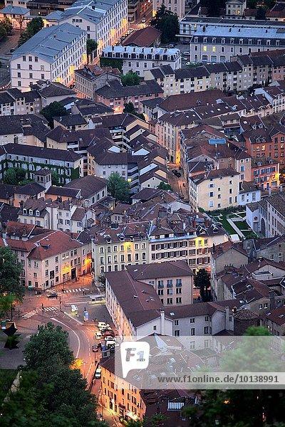 Skyline Skylines Frankreich Nacht Grenoble